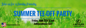 Summer Tee-Off Party Invite