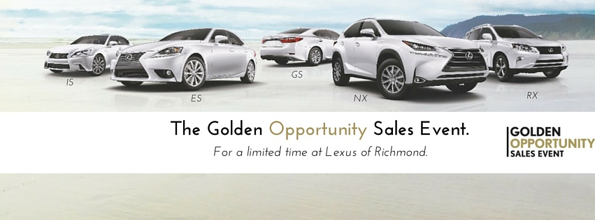 Golden Opportunity Sales Event Lexus Of Richmond